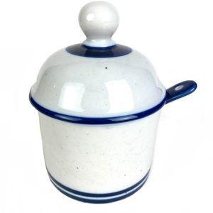 Dansk Blue Mist Mayo Jelly Jam Jar w Spoon Lid